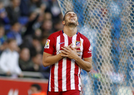 futbol soccer: Koke Resurreccion of Atletico Madrid during a Spanish League match against RCD Espanyol at the Power8 stadium on April 9, 2016 in Barcelona, Spain