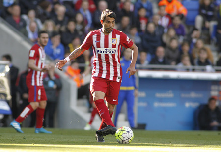 winger: Augusto Fernandez of Atletico Madrid during a Spanish League match against RCD Espanyol at the Power8 stadium on April 9, 2016 in Barcelona, Spain
