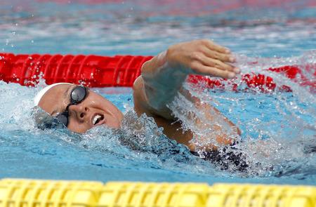 piscina olimpica: nadador espa�ol Melani Costa rastreo de nataci�n durante el Trofeo Ciutat de Barcelona en Sant Andreu de Club 11 de junio de 2016, Barcelona, ??Espa�a