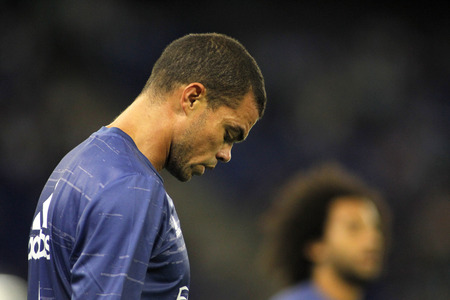 pepe: Pepe Lima of Real Madrid before a Spanish League match against RCD Espanyol at the RCDE Stadium on September 18 2016 in Barcelona Spain