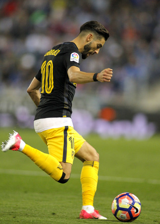 futbol infantil: Yannick Ferreira Carrasco of Atletico de Madrid during a Spanish League match against RCD Espanyol at the RCDE Stadium on May 6 2017 in Barcelona Spain Editorial