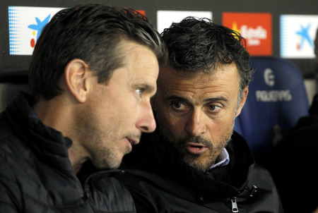 martinez: Luis Enrique Martinez(R) manager of FC Barcelona  during a Spanish League match against RCD Espanyol at the RCDE Stadium on April 29 2017, in Barcelona Spain