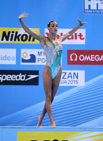 Ona Carbonell of Spain during a Solo Synchronised Swimming event of World Championship BCN2013 on July 24, 2013 in Barcelona Spain
