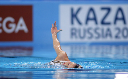 Yukiko Inui of Japan during a Solo Synchronised Swimming event of World Championship BCN2013 on July 24, 2013 in Barcelona Spain
