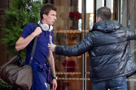 mario: Opatija, Croatia, 14 November 2012: player of FC Bayern Muenchen Mario Mandzukic during the residence in Opatija with Croatian National Football Team on November 14, 2012 in Opatija, Croatia Editorial