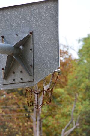 古いバスケット ボール ボード 写真素材