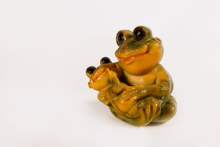 Decorative figure of a frog. For home and office decoration. Frog.