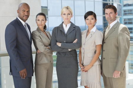 Interracial group of business men   women, businessmen and businesswomen team Stock Photo - 19483552
