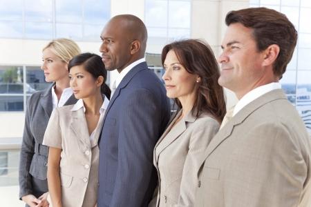 Interracial group of business men & women, businessmen and businesswomen team Stock Photo - 19524952