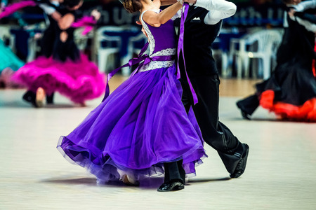 young couple of dancers to compete in ballroom dancing