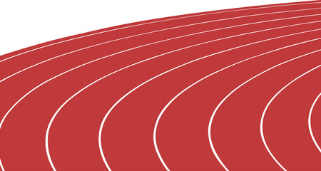 turn red running track stadium