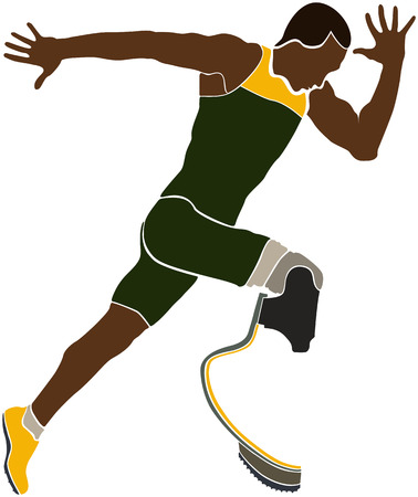 amputee: Explosive Brazilian runner athlete disabled amputee