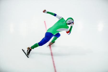 start athlete men speed skater competition in speed skating