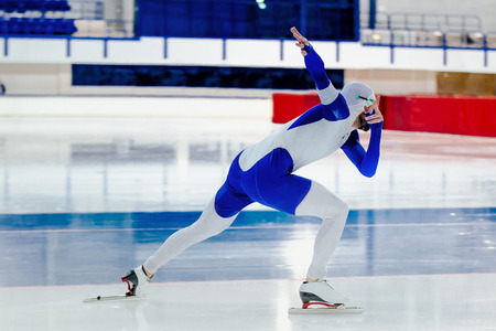 dynamic male speed skater competition in speed skating Stock fotó
