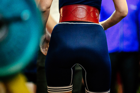 back butt woman athlete powerlifter slim body