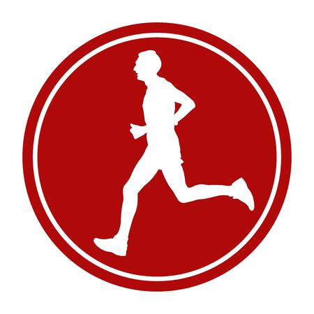 Sportivo segno maschile atleta atleta icona atleta di maratona