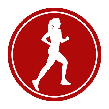 corsa di segno di sport icona atleta corridore in esecuzione