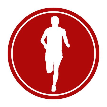 sport segno icona maschio corridore atleta in esecuzione
