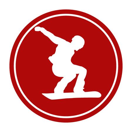 icono de signo de deportes atleta masculino snowboarder
