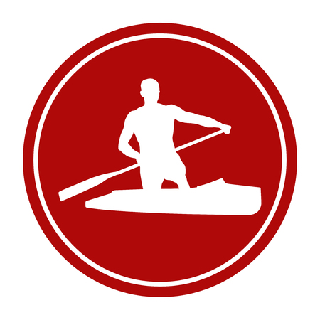 sports sign icon male athlete ?anoeing