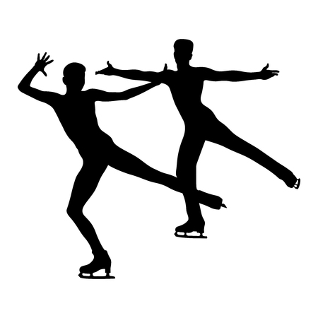 dancing pair skating in figure skating competition