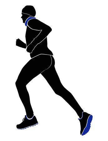 male runner vector illustration