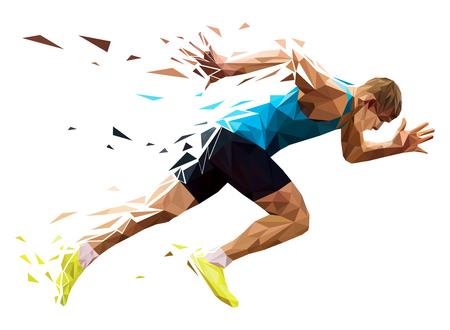 Runner explosive start in running.