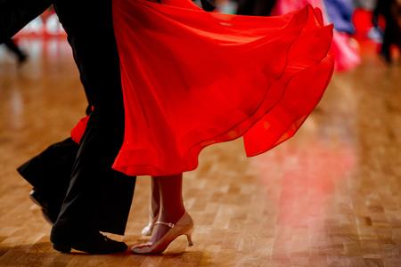 Sport Paar Tänzer Standard Tanzwettbewerb Standard-Bild