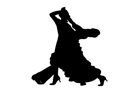dance sport ballroom dancing couple dancers vector illustration