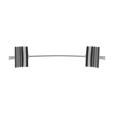 barbell powerlifting weight plates black and white silhouette