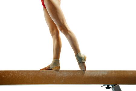 isolated balance beam legs female gymnast gymnastics competition