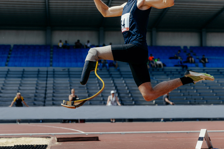 athlete jumper handicap on prosthesis long jump athletics