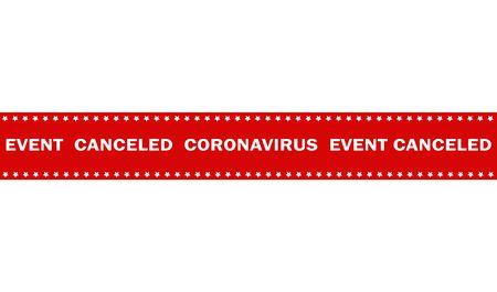 warning marking tape event canceled coronavirus Vettoriali