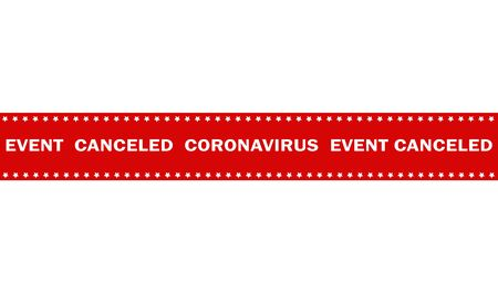warning marking tape event canceled coronavirus