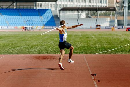 speerwerpen teruggooi atleet werper in atletiek evenement
