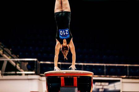 women gymnastics vault on artistic gymnastics in summer games