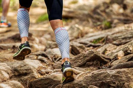 legs runner in compression sleeveless socks run stones trail race
