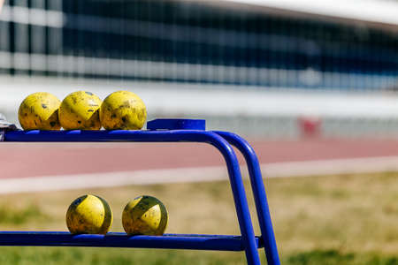 shot put rack in track and field competitive