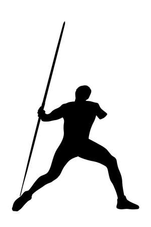 javelin throw male athlete disabled black silhouette