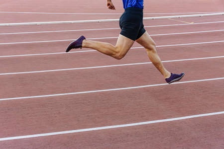 legs male runner athlete run sprint race