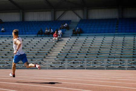 male runner run stadium sprint race