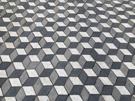 background 3d paving slabs of gray color