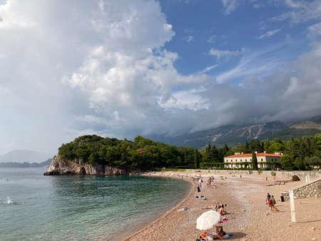 Milocer beach Adriatic coast in Montenegro