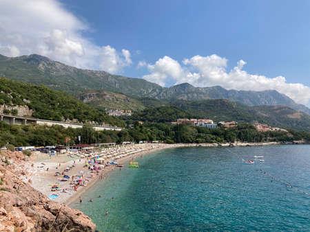 Kamenovo beach Adriatic coast in Montenegro