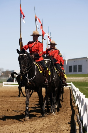 Ottawa Ontario Canada. May 2011. Each year before they start their tour, the RCMP musical ride performs an Inspectors Review, once approved they commence their summer tour. Stock Photo - 9690403