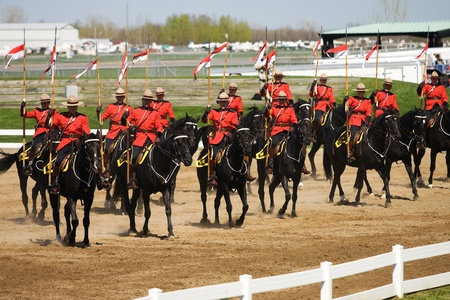 Ottawa Ontario Canada. May 2011. Each year before they start their tour, the RCMP musical ride performs an Inspectors Review, once approved they commence their summer tour. Stock Photo - 9690450