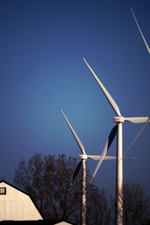 erie: Port Burwell, Canada - May 5, 2011. Images of the Erie Shores Wind Farm located in Southwestern Ontario Canada.
