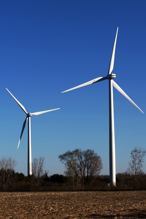 Port Burwell, Canada - May 5, 2011. Images of the Erie Shores Wind Farm located in Southwestern Ontario Canada.