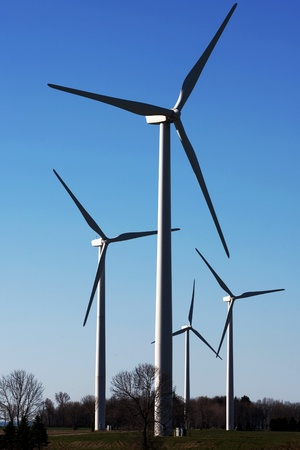 southwestern ontario: Port Burwell, Canada - May 5, 2011. Images of the Erie Shores Wind Farm located in Southwestern Ontario Canada.