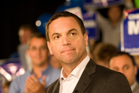 progressive: London, Canada - September 12, 2011: Tim Hudak, leader for the Progressive Conservative Party of Ontario speaks to party faithful at a rally in London Ontario. Hudak stressed the need for change after eight years of Liberal rule under Dalton McGuinty.